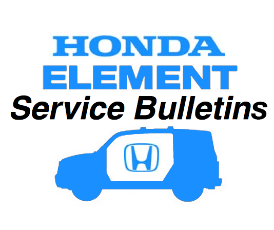 honda element technical service bulletins