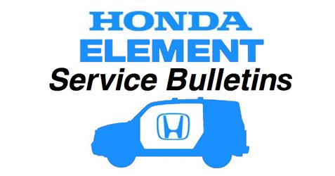 honda element technical service bulletins