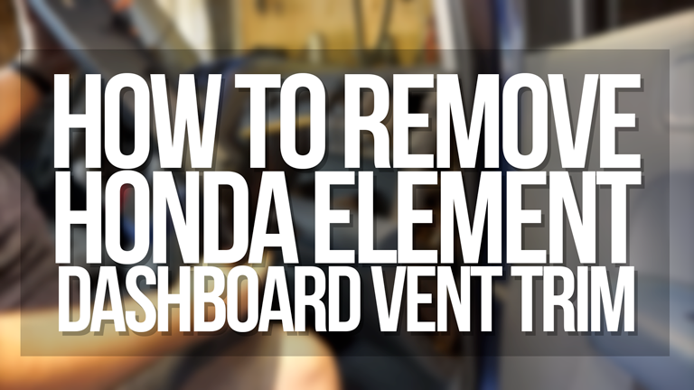 how to remove honda element dashboard trim vent