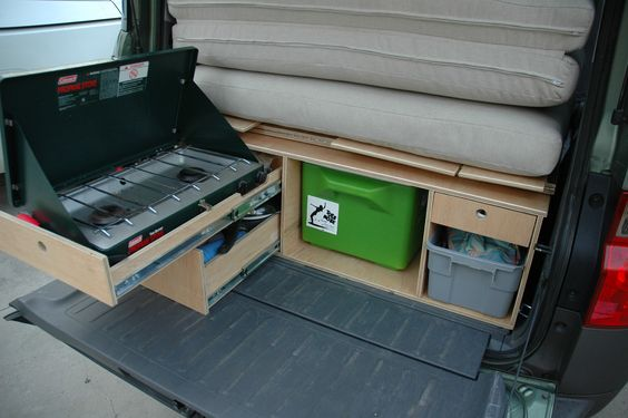 Honda Element Camping mods Rear Kitchen