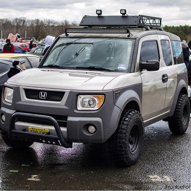 Rugged Khaki Honda Element