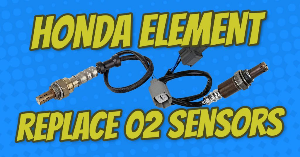 how to replace honda element o2 sensors