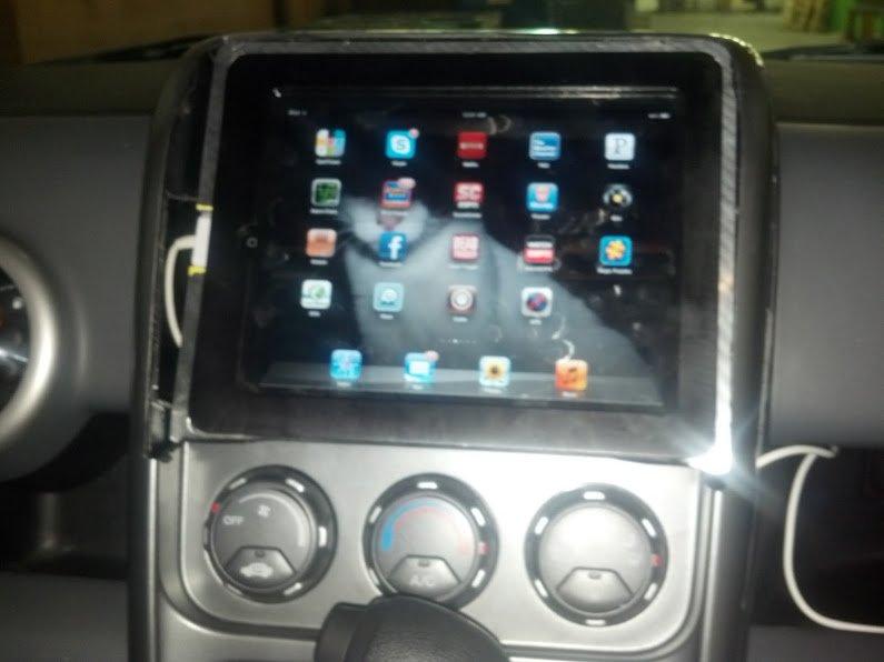 iPad Dashboard Mounted