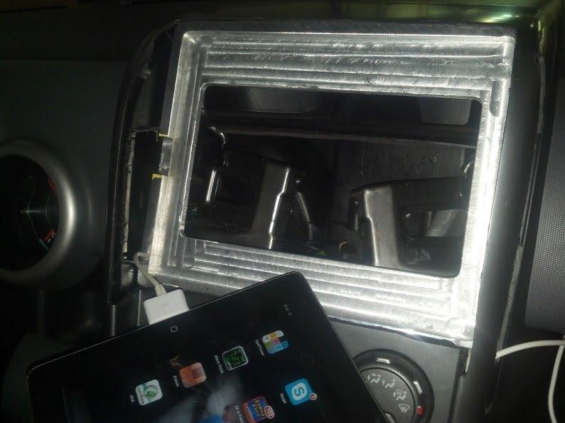 In-dash iPad