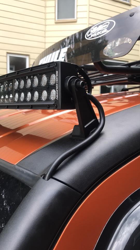 orange honda element cleanest LED lightbar install perfect fitment bestway wiring clean simple
