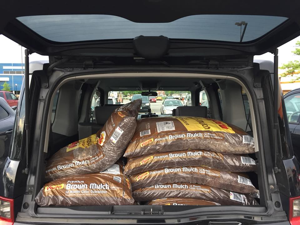 Honda Element Interior 35 bags of mulch can fit inside the Cargo Area 2