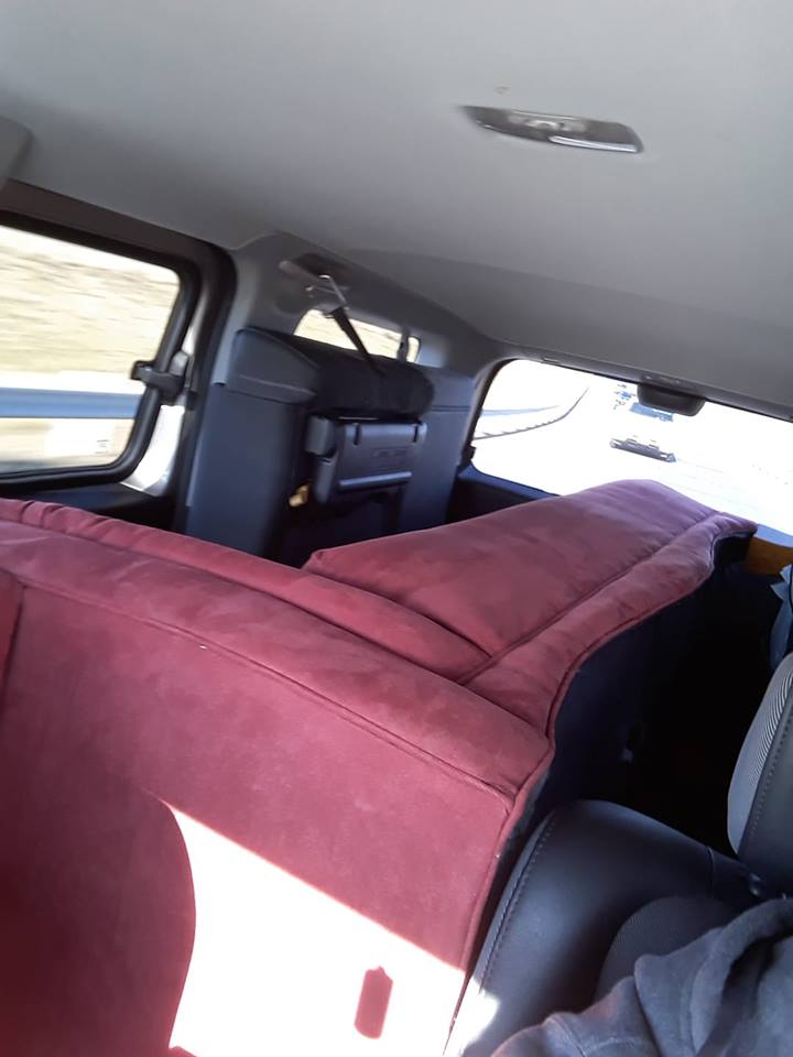 Honda Element Interior Chase Lounge fits inside the Cargo Area 2