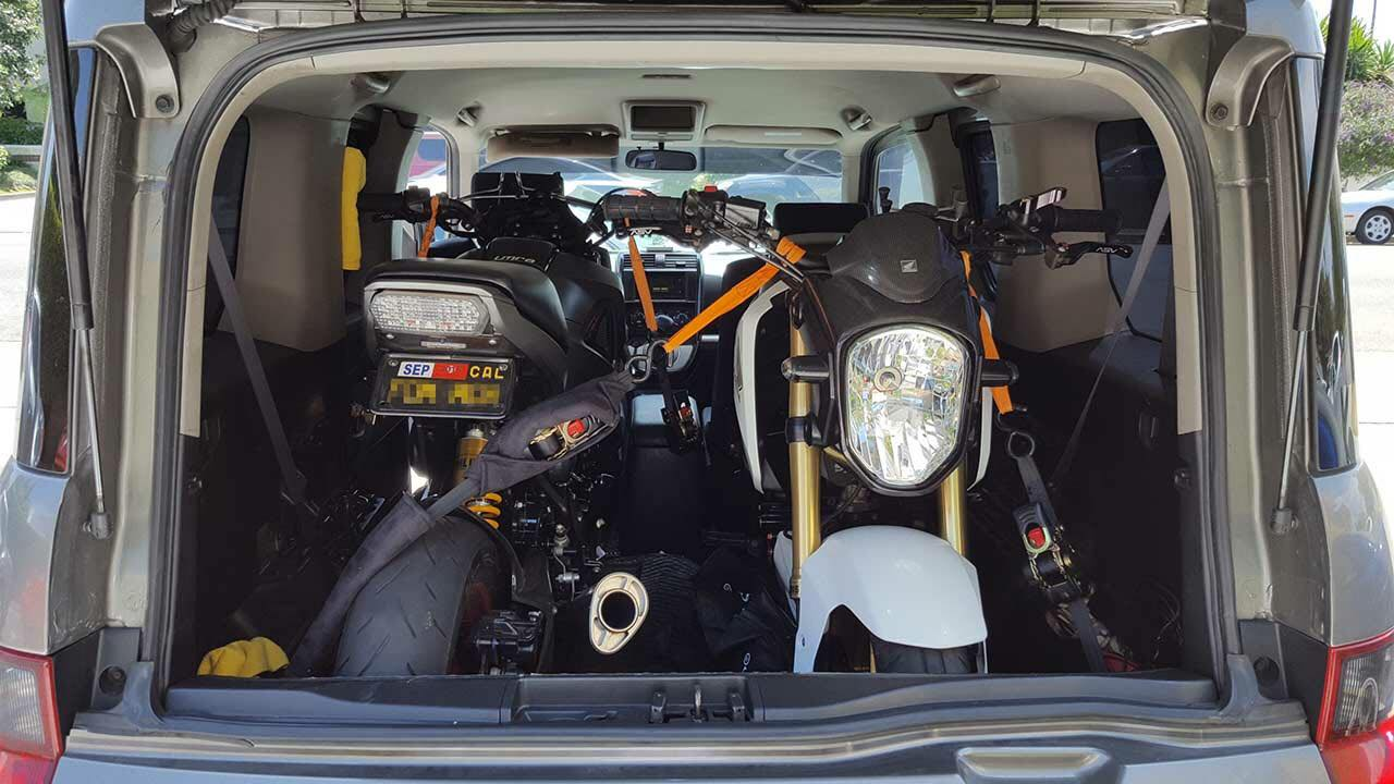 Honda Element Interior Dimensions 2 two Grom in the Cargo Area