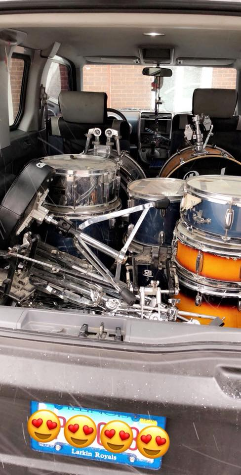 Honda Element Interior Dimensions two 2 full drum kits in the back for your band practice or show concert