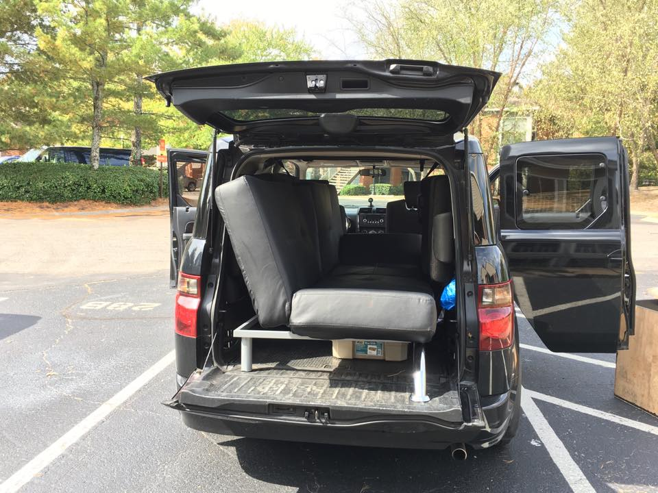 Honda Element Interior Futon can fit inside the Cargo Area
