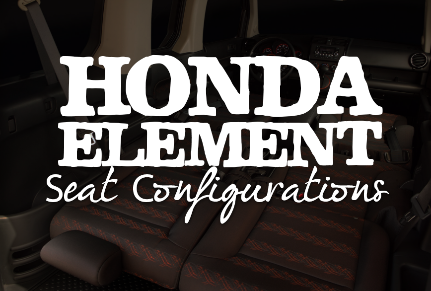 Honda Element Interior Seat Configurations