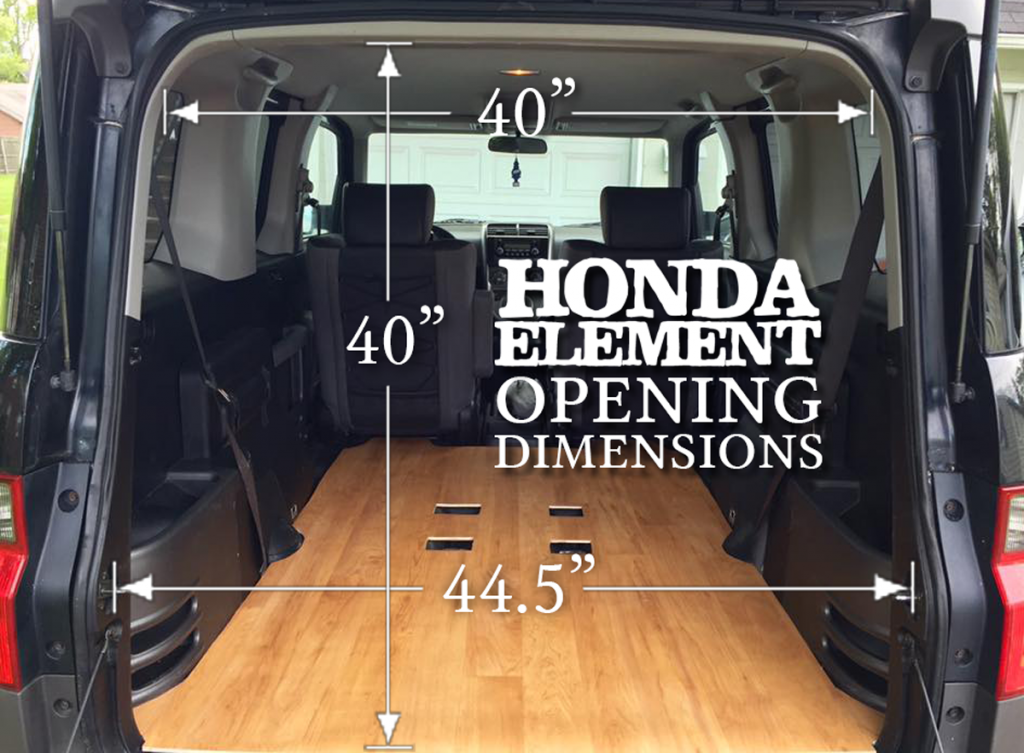 Honda Element Interior Dimensions Cargo Area Space Numbers Arrows Opening