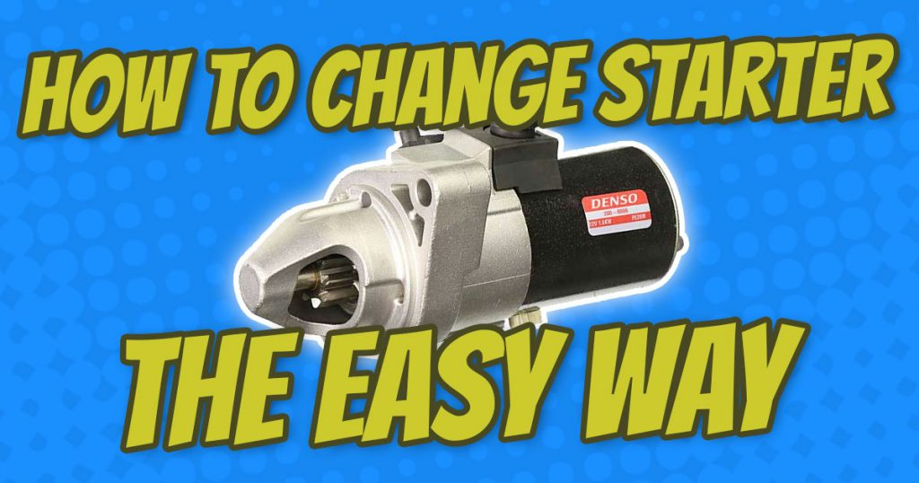 how to change honda element starter the easy way