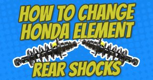 how to change honda element rear shocks