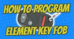 how to program honda element key fob guide