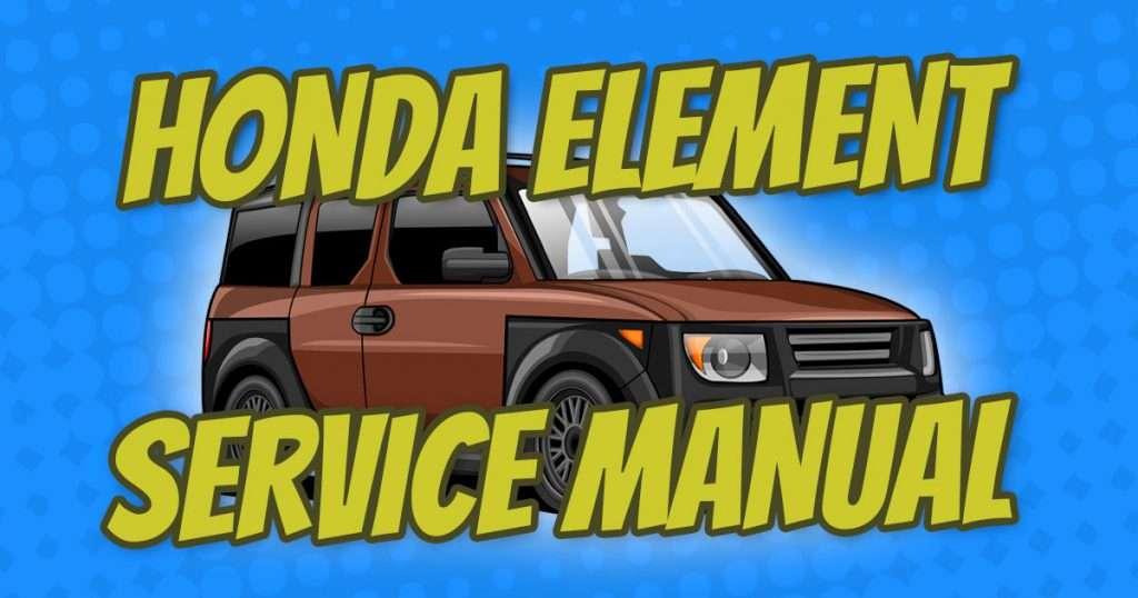 honda element service manual