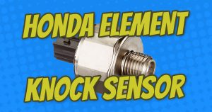 how to replace honda element knock sensor with diagrams