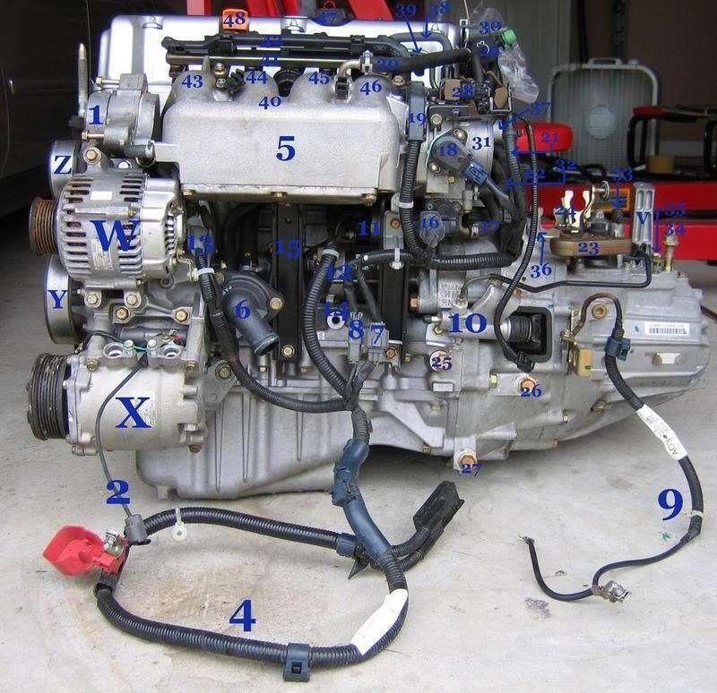 Honda Element K24 Part and Sensor Diagram 1