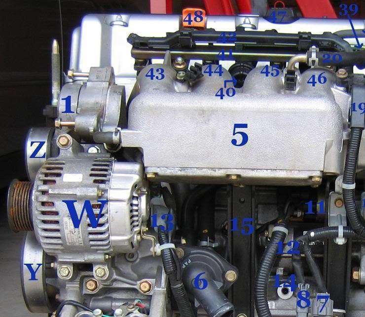 Honda Element K24 Part and Sensor Diagram 2