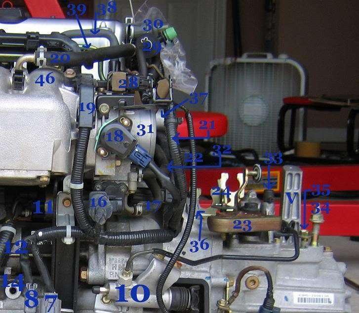Honda Element K24 Part and Sensor Diagram 3