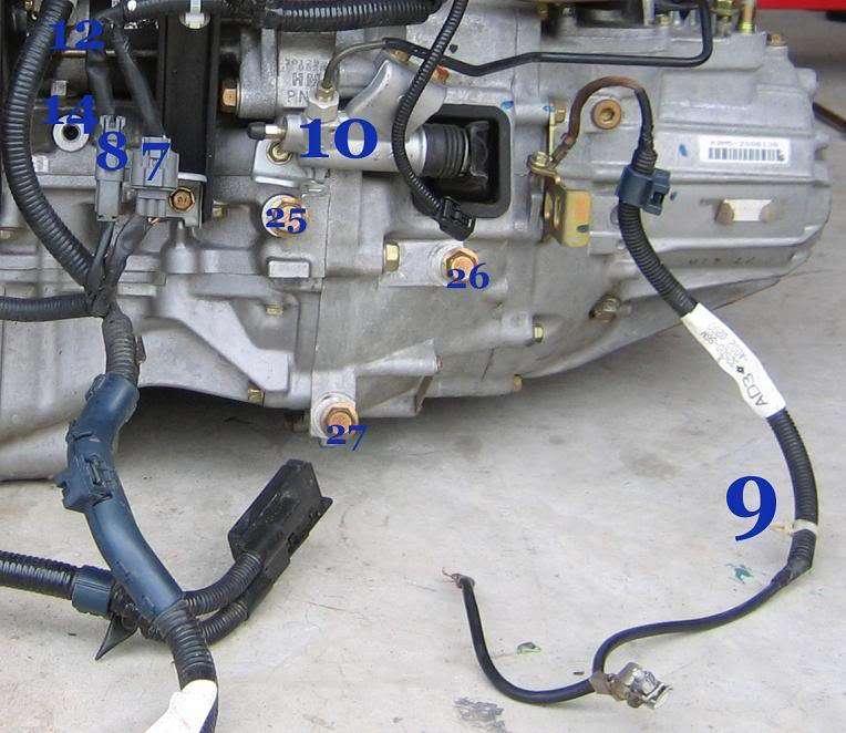 Honda Element K24 Part and Sensor Diagram 4