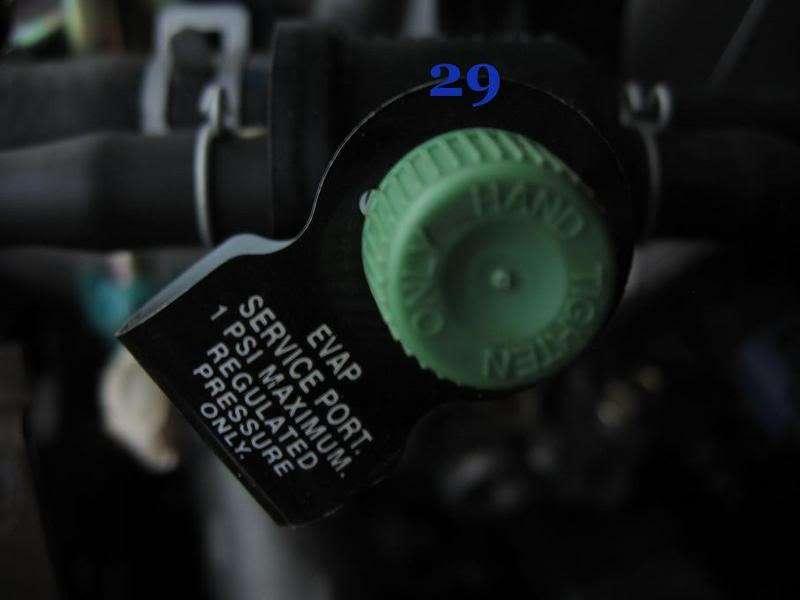 Honda Element K24 Part and Sensor Diagram 6