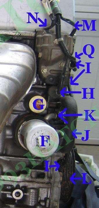 Honda Element K24 Part and Sensor Diagram 7