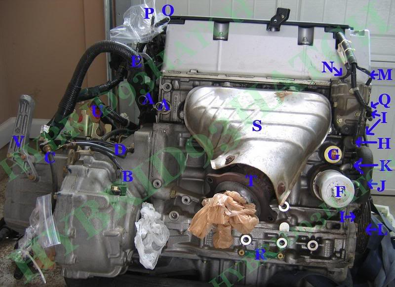 Honda Element K24 Part and Sensor Diagram 9