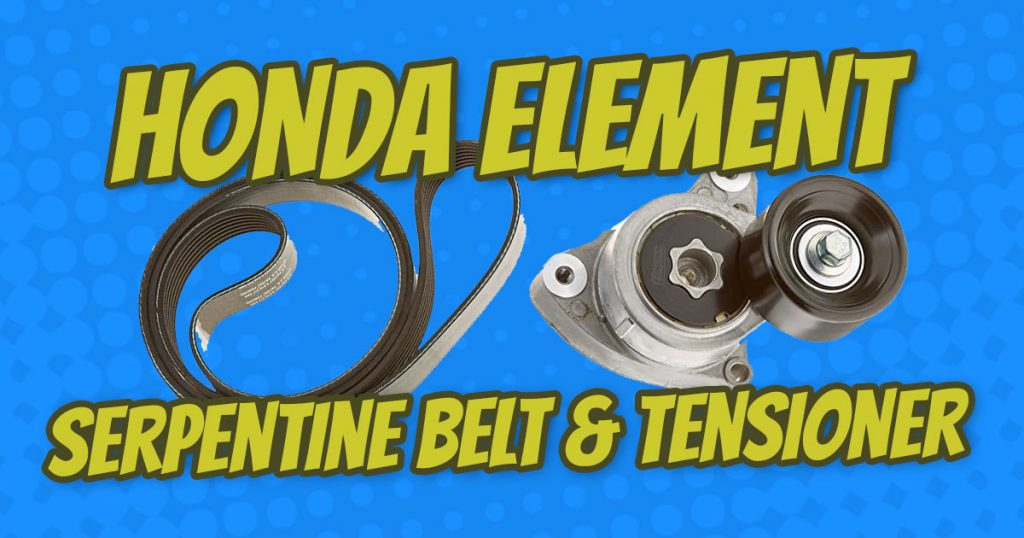 how to replace honda element serpentine belt and tensioner
